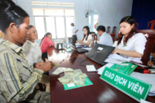 "Where can ""NEWLY ESCAPED FROM POVERTY"" Households in Vietnam access micro credit?"