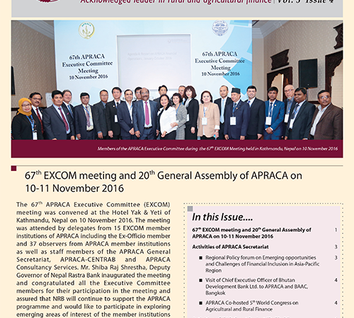 APRACA Newsletter Vol. 3 Issue 4