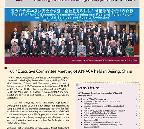 APRACA Newsletter Vol. 4 Issue 2