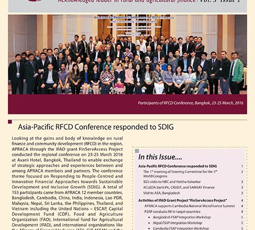 APRACA Newsletter Vol. 3 Issue 1