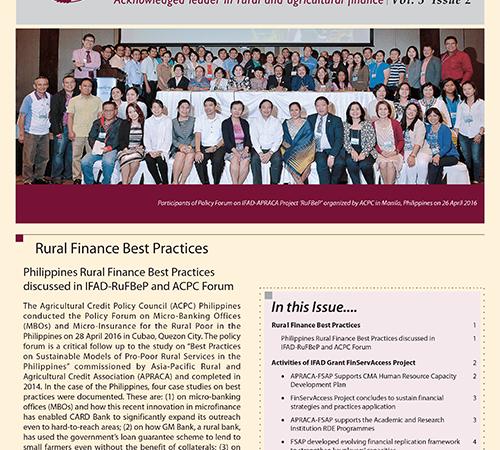APRACA Newsletter Vol. 3 Issue 2