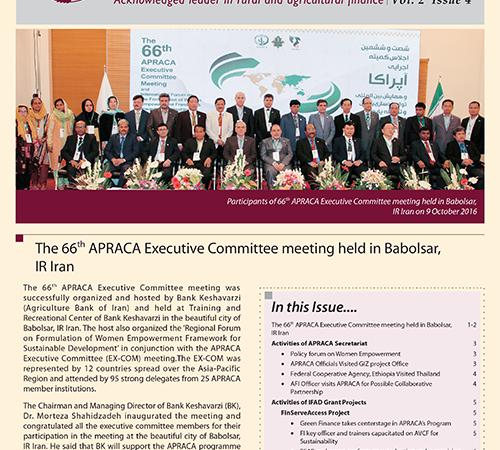 APRACA Newsletter Vol. 2 Issue 4