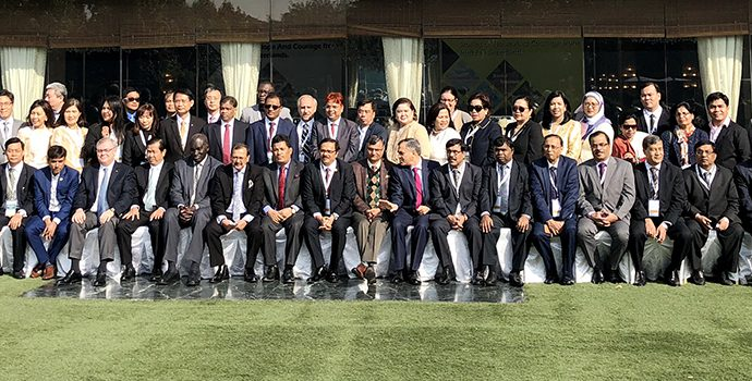 Group Photo of the delegates from 21 countries attending the APRACA-NABARD International Forum held in New Delhi during 16-17 December 2017