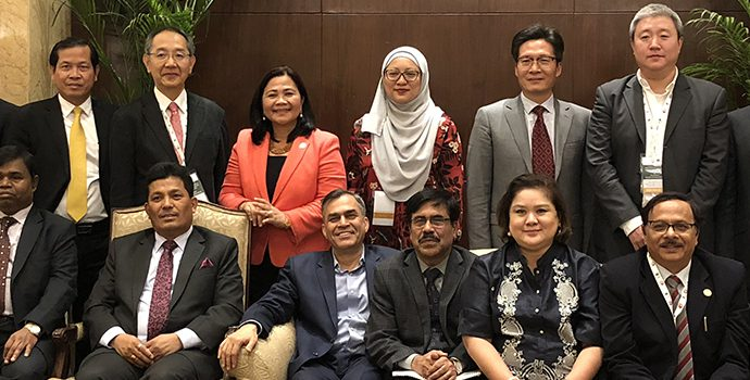 Members of the APRACA Executive Committee attended in the 69th meeting held on 17 December 2017 in New Delhi, India