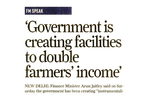 Government is creating facilities to double farmers income