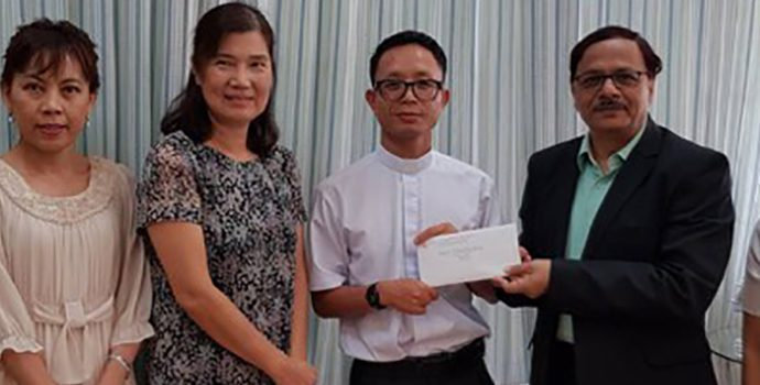 APRACA offered assistance to build community center in Salaphi District, Chiangmai, Thailand on 22 January 2018.