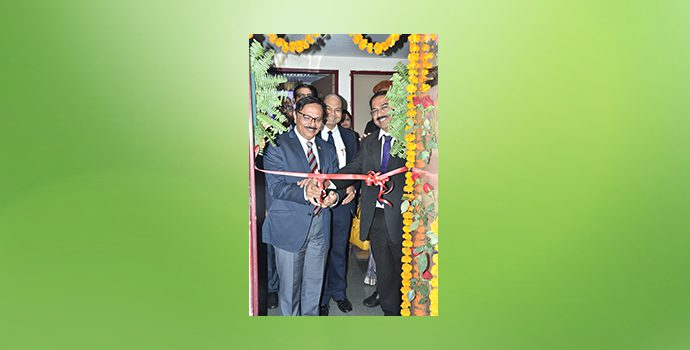 APRACA Secretary General in the ribbon cutting ceremony to inaugurate APRACA Centre of Excellence (ACE) on Linkage Banking in BIRD, Lucknow, India. The Chief General Manager NABARD and the Director of BIRD were also present in the ceremony.