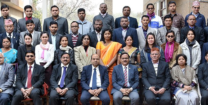 Participants of the International Training of Trainers on Promotion of Self Help Groups held in Bankers Institute of Rural Development (BIRD), Lucknow, India during 8-11 January 2018.