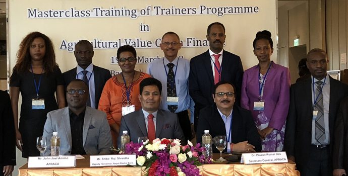 Master Class Training Programme for the Trainers on Agricultural Value Chain Finance (AgVCF)  in Bangkok, Thailand during 19-23 March 2018