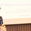 APRACA Secretary General introducing the national dissemination workshop on RuFBeP Project in Manila, Philippines on 14 June 2018