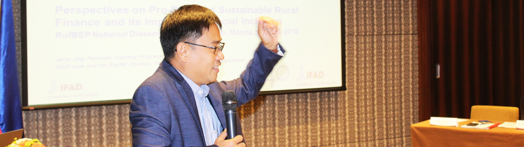 Mr  Jerry Pacturan, CPO, IFAD, Philippines Speaking on Rural