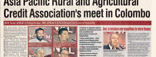 Asia Pacific Rural and Agricultural Credit Association's meet in Colombo