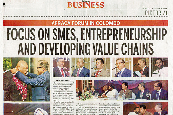 Focus on SMES, Entrepreneurship and Developing Value Chains