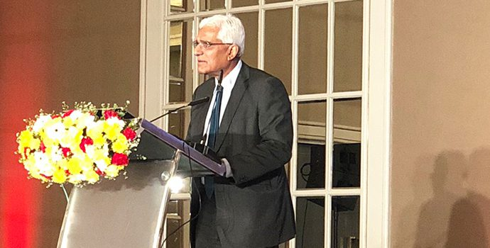 Dr. Indrajit Coomaraswamy, Governor, Central Bank of Sri Lanka delivering special speech during the APRACA regional forum held in Hilton, Colombo on 8 October 2018.