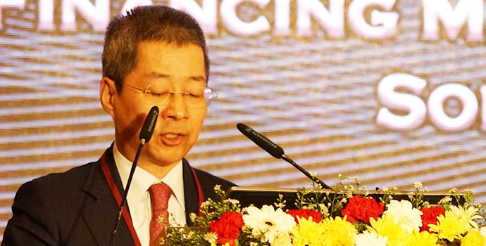 Mr. Qian Wenhui, President, ADBC, China addressing the delegates of APRACA regional forum held in Hilton, Colombo on 8 October 2018.