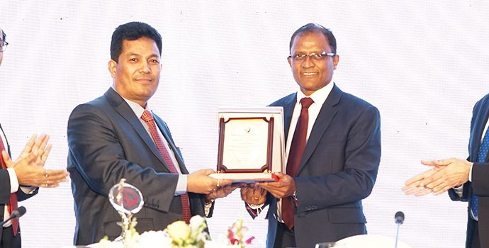 Mr. Shiba raj Shrestha, Deputy Governor, Nepal Rastra Bank is handing over the Charge of APRACA Chairmanship to Mr. Senarath Bandara, CEO of Bank of Ceylon for the next Biennium (Nov 2018-Oct 2020). Dr. Harsh K Bhanwala, Chairman NABARD and APRACA Vice-Chair and Dr. Prasun K. Das, APRACA Secretary General are also present during the occasion.
