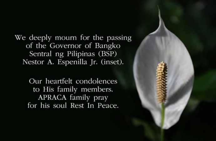 We deeply mourn for the passing of the Governor of Bangko Sentral ng Pilipinas (BSP)