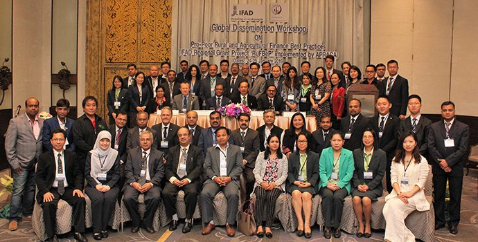 Delegates of the IFAD-APRACA Global Dissemination Workshop on Rural Finance Best Practices held in Bangkok during 24-25 January 2019