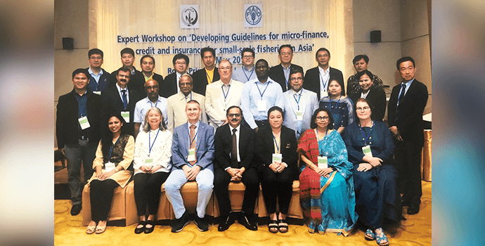 Delegates of the FAO-APRACA experts workshop on developing guidelines for financial services to small scale fishers in Asia held in Bangkok during 7-9 May 2019
