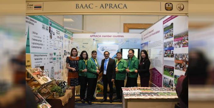 BAAC-APRACA Knowledge Barth during 2nd Mekong Knowledge and Learning Fair in Bangkok.