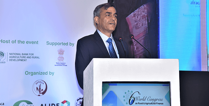 Chairman of NABARD speaking at the inaugural session of 6th World Congress