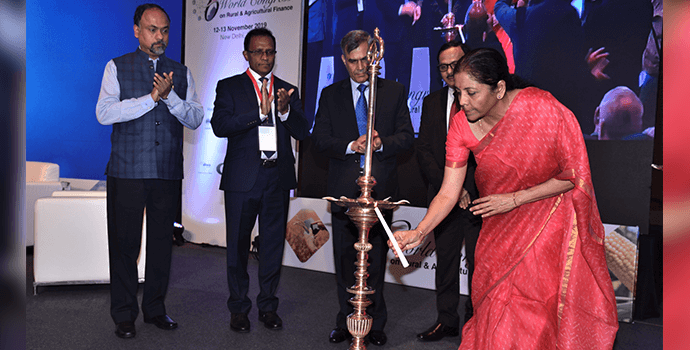 Smt. Nirmala Sitharaman, Hon'ble Finance Minister, Government of India inaugurating the 6th World Congress