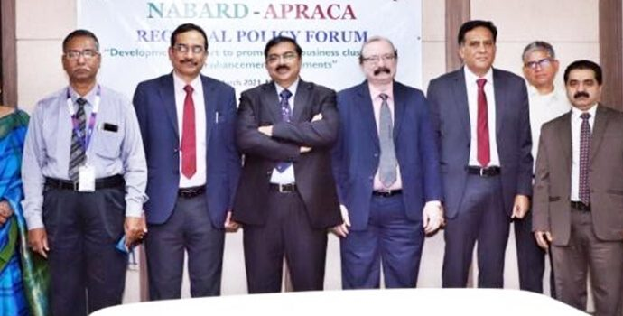 The 'Team NABARD' led by Dr. G R Chintala, Chairman of NABARD and Chairman of APRACA.