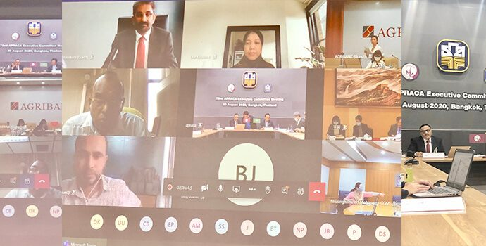 72nd EXCOM meeting of APRACA held in virtual mode on 20 August 2020