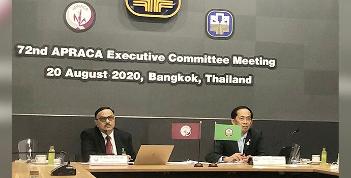 Mr. Apirom Sukprasert, President, BAAC, Thailand Welcomed all the participant of 72nd APRACA EXCOM meeting