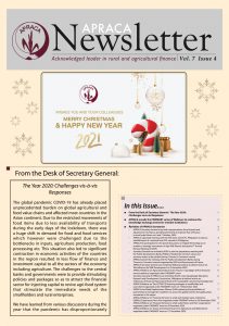 APRACA Newsletter Vol.7 issue 4