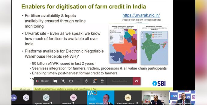 Digitization of Farm Credit in India presented by the State Bank of India.